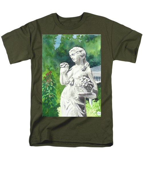 Men's T-Shirt  (Regular Fit) featuring the painting A Statue At The Wellers Carriage House -2 by Yoshiko Mishina
