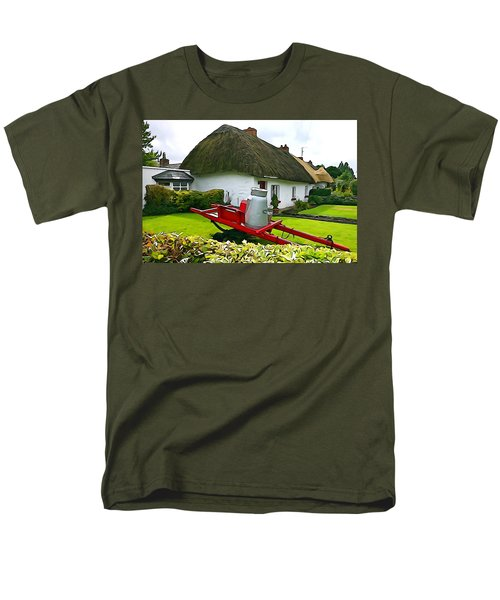 Men's T-Shirt  (Regular Fit) featuring the photograph Adare Cottage by Charlie and Norma Brock