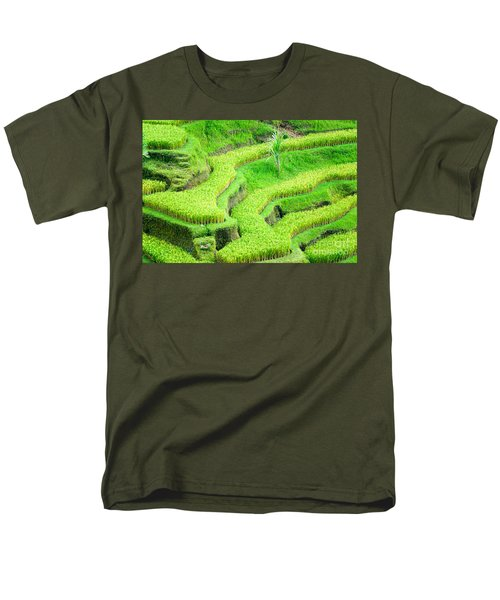 Men's T-Shirt  (Regular Fit) featuring the photograph Amazing Rice Terrace Field by Luciano Mortula