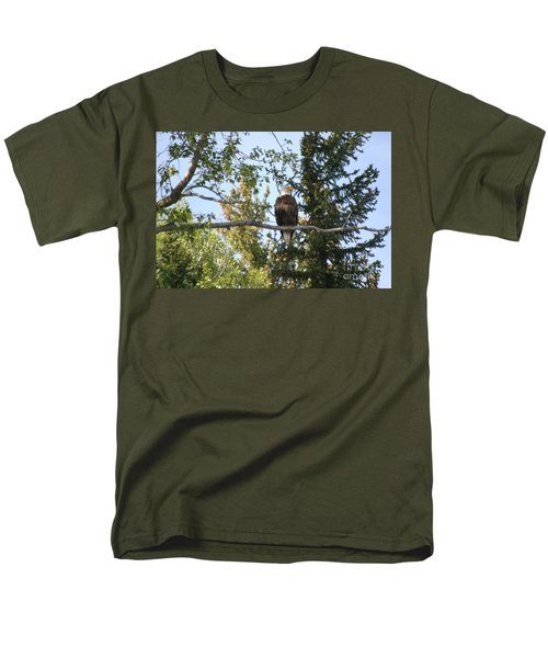 Men's T-Shirt  (Regular Fit) featuring the photograph American Eagle by Living Color Photography Lorraine Lynch