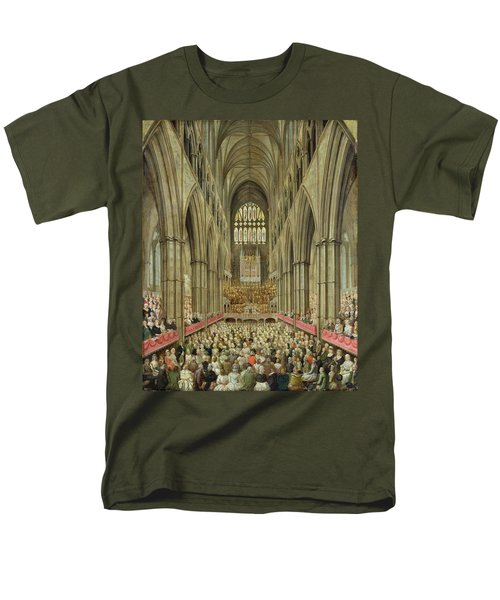 An Interior View Of Westminster Abbey On The Commemoration Of Handel's Centenary Men's T-Shirt  (Regular Fit) by Edward Edwards