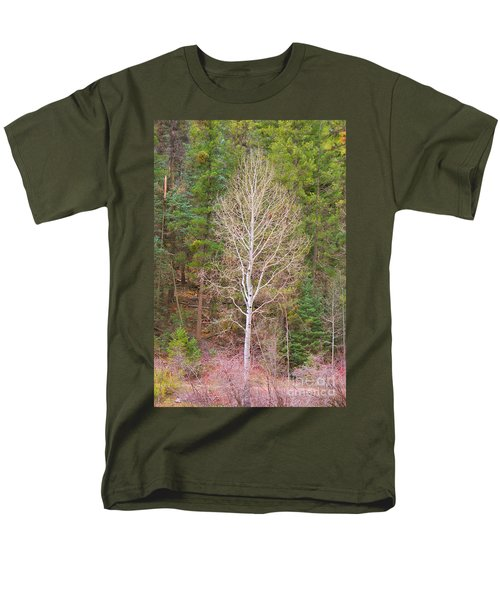 Aspen Tree Forest Road 249 Men's T-Shirt  (Regular Fit) by Donna Greene