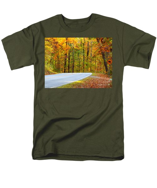 Men's T-Shirt  (Regular Fit) featuring the photograph Autumn Drive by Lydia Holly