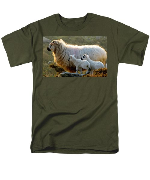 Baby-lambs Men's T-Shirt  (Regular Fit) by Barbara Walsh