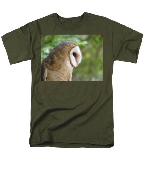 Barn Owl Men's T-Shirt  (Regular Fit) by Randy J Heath