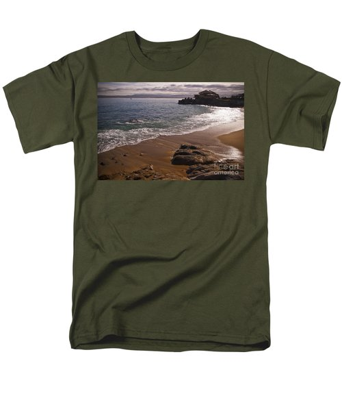 Beach At Monteray Bay Men's T-Shirt  (Regular Fit) by Darcy Michaelchuk