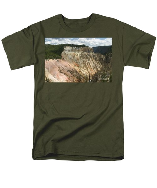 Men's T-Shirt  (Regular Fit) featuring the photograph Beauty Of The Grand Canyon In Yellowstone by Living Color Photography Lorraine Lynch