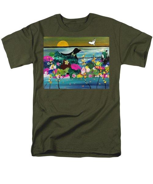 Black Birds Men's T-Shirt  (Regular Fit) by Kelly Turner