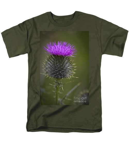 Blooming Thistle Men's T-Shirt  (Regular Fit) by Clare Bambers