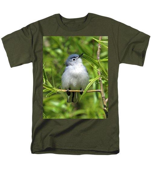 Men's T-Shirt  (Regular Fit) featuring the photograph Blue-gray Gnatcatcher Dsb147 by Gerry Gantt