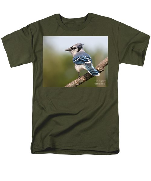 Men's T-Shirt  (Regular Fit) featuring the photograph Blue Jay by Art Whitton