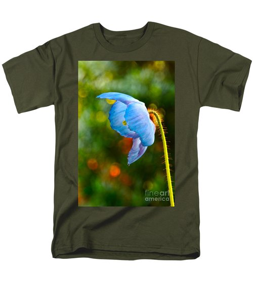 Blue Poppy Dreams Men's T-Shirt  (Regular Fit) by Byron Varvarigos