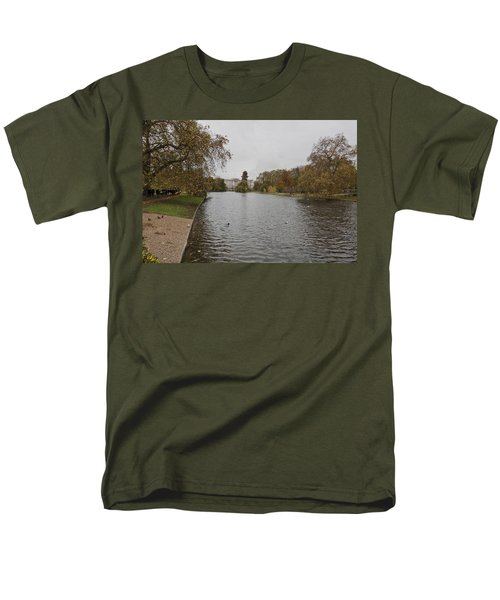 Men's T-Shirt  (Regular Fit) featuring the photograph Buckingham Palace View by Maj Seda