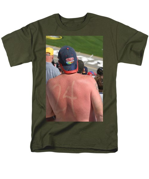 Burned Into His Back 24 Men's T-Shirt  (Regular Fit) by Kym Backland