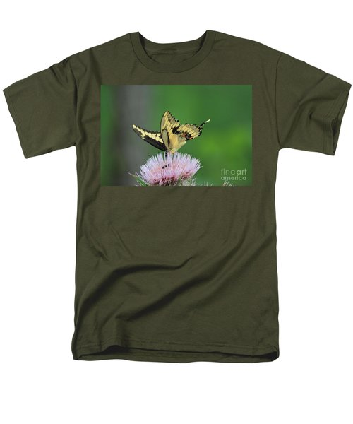 Men's T-Shirt  (Regular Fit) featuring the photograph Butterflies Are Free by Kathy  White