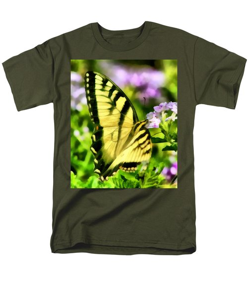 Men's T-Shirt  (Regular Fit) featuring the painting Butterfly by Lynne Jenkins