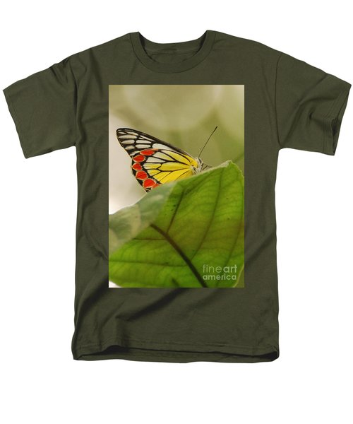 Men's T-Shirt  (Regular Fit) featuring the photograph Butterfly Resting by Fotosas Photography