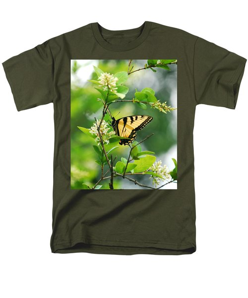 Men's T-Shirt  (Regular Fit) featuring the photograph Butterfly Tiger Swallow by Peggy Franz
