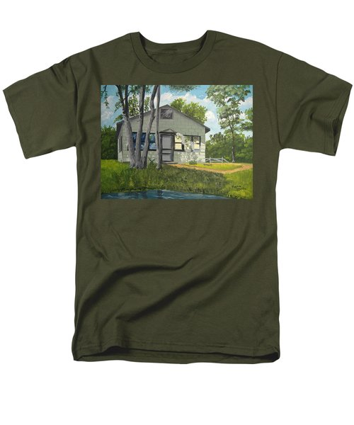 Cabin Up North Men's T-Shirt  (Regular Fit) by Norm Starks