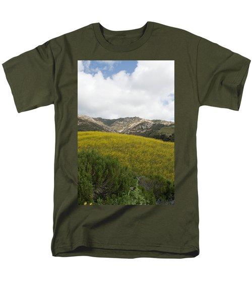 California Hillside View V Men's T-Shirt  (Regular Fit) by Kathleen Grace