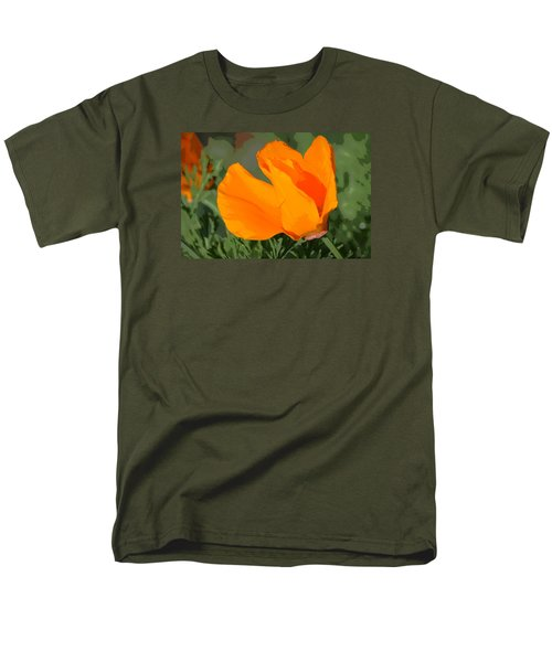 Men's T-Shirt  (Regular Fit) featuring the photograph California Poppy2 by Rima Biswas