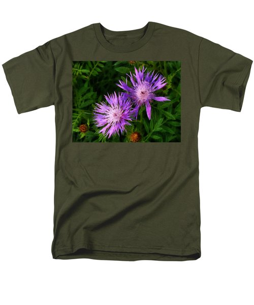 Men's T-Shirt  (Regular Fit) featuring the photograph Can Flowers Say Boo by Steve Taylor