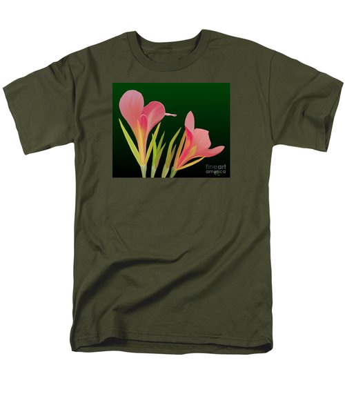 Canna Lilly Whimsy Men's T-Shirt  (Regular Fit) by Rand Herron