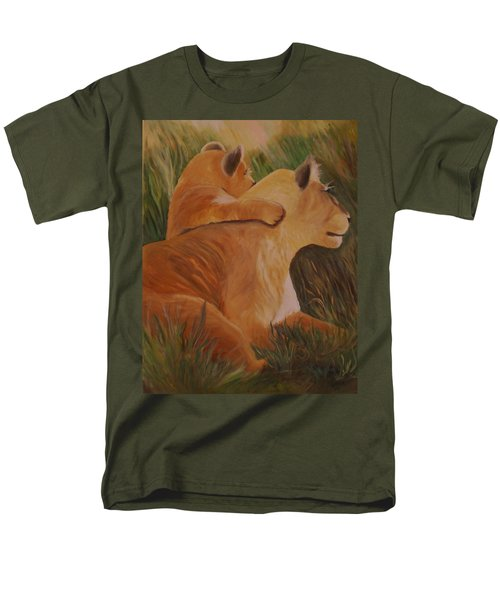 Men's T-Shirt  (Regular Fit) featuring the painting Cat Family by Christy Saunders Church