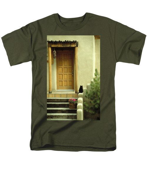 Men's T-Shirt  (Regular Fit) featuring the photograph Cat Post by Brent L Ander