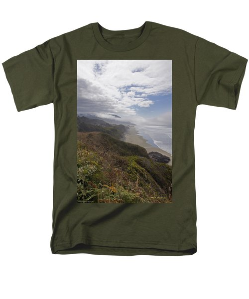 Men's T-Shirt  (Regular Fit) featuring the photograph Central Oregon Coast Vista by Mick Anderson