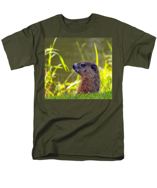 Chucky Woodchuck Men's T-Shirt  (Regular Fit) by Paul Ward