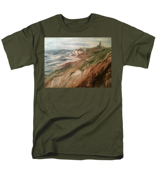 Cliff Side - Newport Men's T-Shirt  (Regular Fit) by Karen  Ferrand Carroll