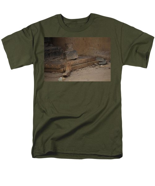 Men's T-Shirt  (Regular Fit) featuring the photograph Color Of Steel 1 by Fran Riley