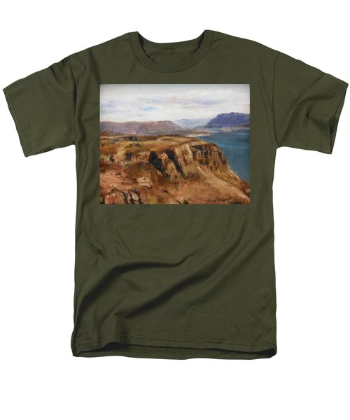 Men's T-Shirt  (Regular Fit) featuring the painting Columbia River Gorge I by Lori Brackett