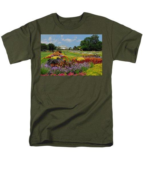 Men's T-Shirt  (Regular Fit) featuring the photograph Conservatory Gardens by Lynn Bauer