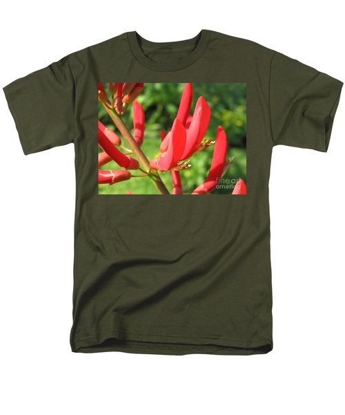 Coral Bean Tree Men's T-Shirt  (Regular Fit) by Mark Robbins