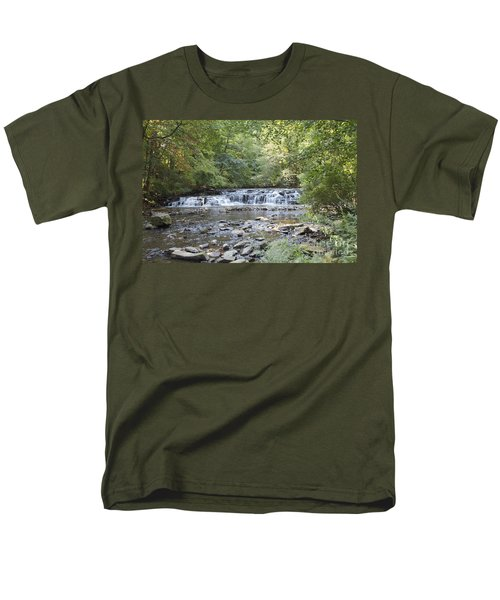 Men's T-Shirt  (Regular Fit) featuring the photograph Corbetts Glen Waterfall by William Norton