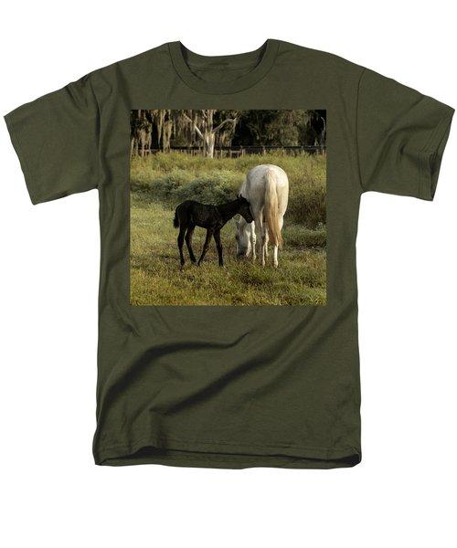 Cracker Foal And Mare Men's T-Shirt  (Regular Fit) by Lynn Palmer