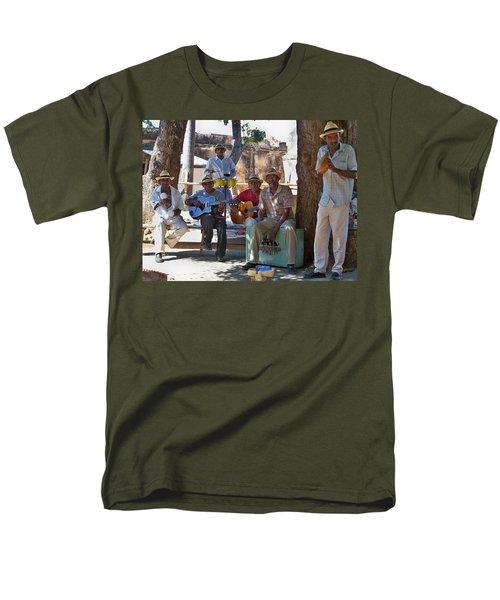 Men's T-Shirt  (Regular Fit) featuring the photograph Cuban Band by Lynn Bolt