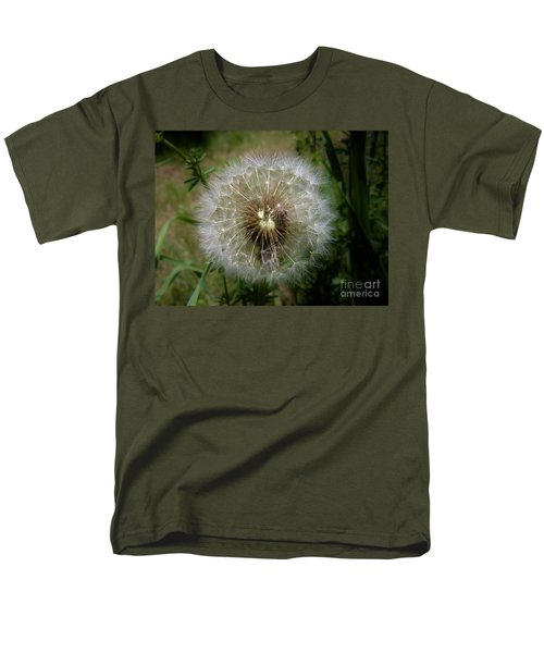 Men's T-Shirt  (Regular Fit) featuring the photograph Dandelion Going To Seed by Sherman Perry