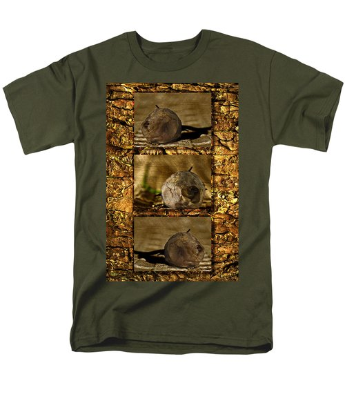 Men's T-Shirt  (Regular Fit) featuring the photograph Dead Rosebud Triptych by Steve Purnell
