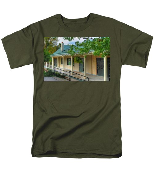 Men's T-Shirt  (Regular Fit) featuring the photograph Delaware Park Casino by Michael Frank Jr