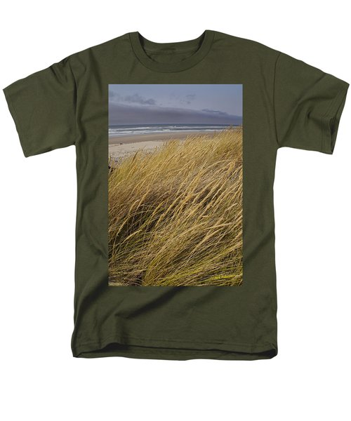 Dune Grass On The Oregon Coast Men's T-Shirt  (Regular Fit) by Mick Anderson
