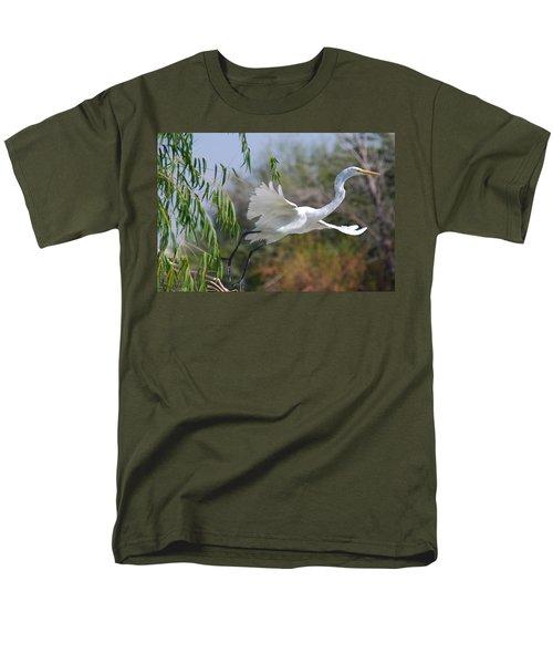 Men's T-Shirt  (Regular Fit) featuring the photograph Egret's Flight by Tam Ryan