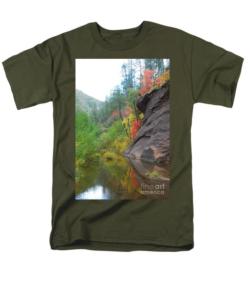 Fall Peeks From Behind The Rocks Men's T-Shirt  (Regular Fit) by Heather Kirk
