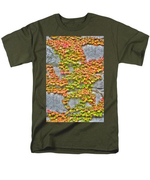 Men's T-Shirt  (Regular Fit) featuring the photograph Fall Wall by Michael Frank Jr