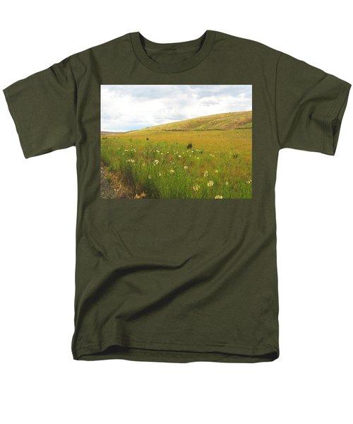 Men's T-Shirt  (Regular Fit) featuring the photograph Field Of Dandelions by Anne Mott