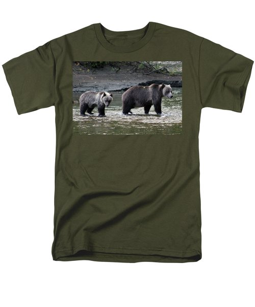 Men's T-Shirt  (Regular Fit) featuring the photograph Fishing Lessons by Cathie Douglas
