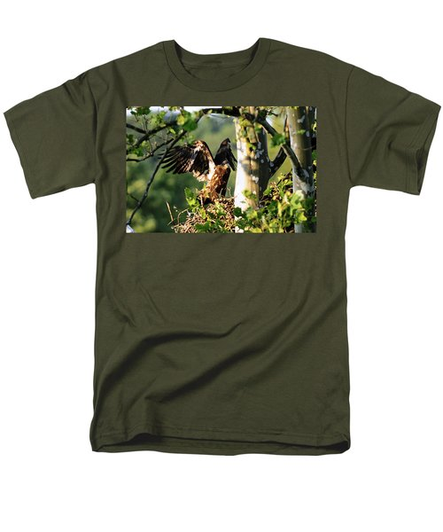 Men's T-Shirt  (Regular Fit) featuring the photograph Fledgling Testing The Wind by Randall Branham