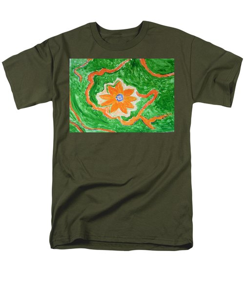 Men's T-Shirt  (Regular Fit) featuring the painting Floating Flower by Sonali Gangane